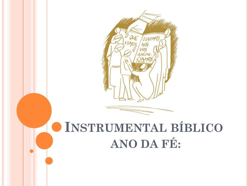 I NSTRUMENTAL BÍBLICO ANO DA FÉ: