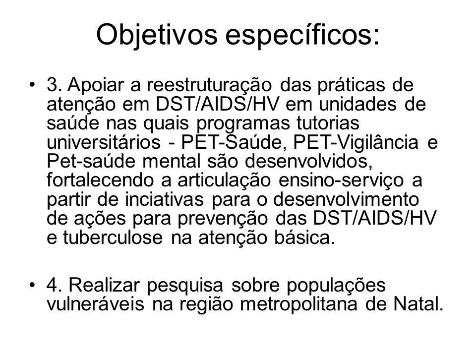 Objetivos específicos: 3.