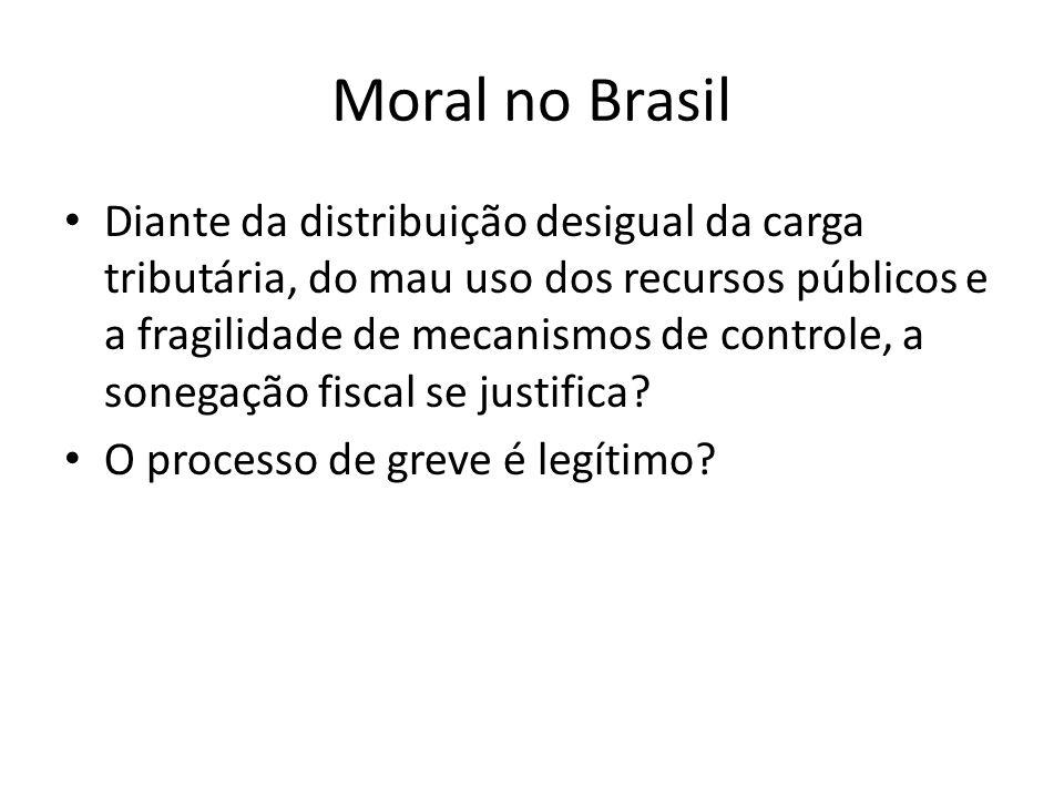 Normas Sociais Tentações Transgressão Tipos de morais: – Gerais (macrossociais) – Abrangência Setorial (messocial) – Organizacional (Microsocial) 16 Constituição moral Brasileira