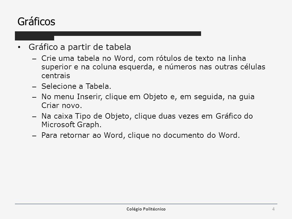 Tabulação Com um duplo clique em uma tabulação abre-se a janela de formatação da tabulação Também pelo menu Formatar / Tabulação.