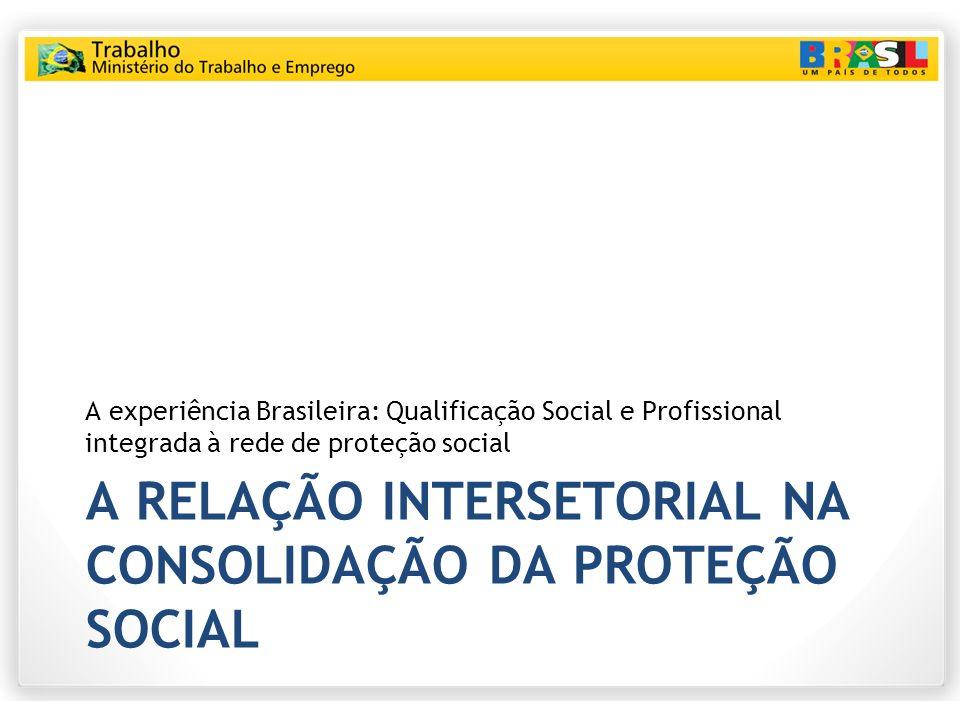 A RELAÇÃO INTERSETORIAL NA CONSOLIDAÇÃO DA PROTEÇÃO SOCIAL A experiência Brasileira: Qualificação Social e Profissional integrada à rede de proteção s