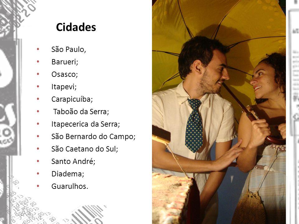 Cidades São Paulo, Barueri; Osasco; Itapevi; Carapicuíba; Taboão da Serra; Itapecerica da Serra; São Bernardo do Campo; São Caetano do Sul; Santo Andr