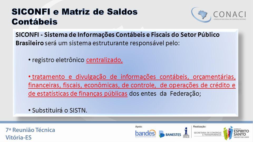 SICONFI - Sistema de Informações Contábeis e Fiscais do Setor Público Brasileiro será um sistema estruturante responsável pelo: registro eletrônico ce