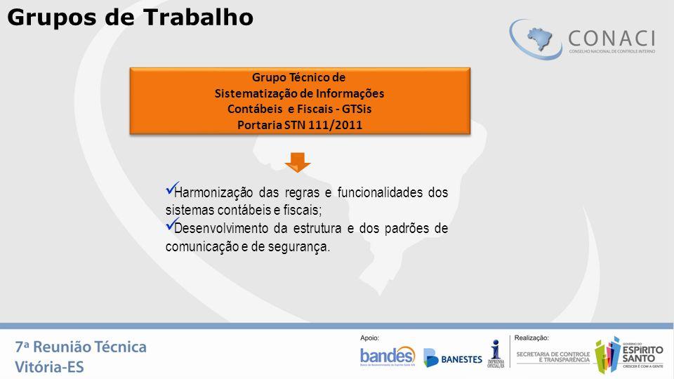 Harmonização das regras e funcionalidades dos sistemas contábeis e fiscais; Desenvolvimento da estrutura e dos padrões de comunicação e de segurança.