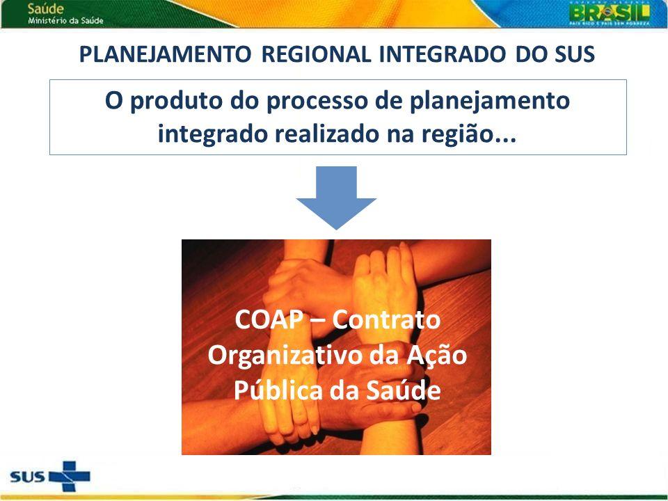 O produto do processo de planejamento integrado realizado na região...