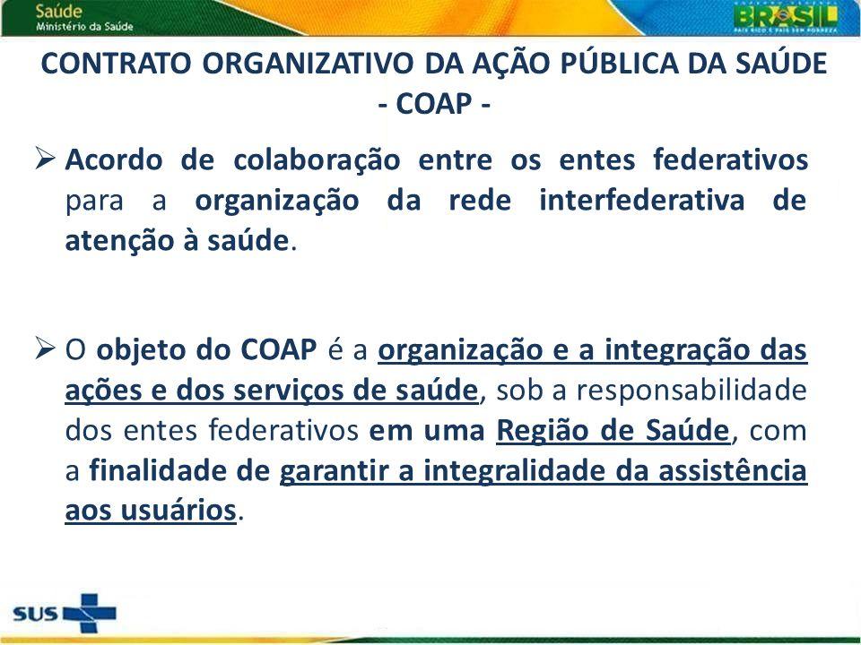 Acordo de colaboração entre os entes federativos para a organização da rede interfederativa de atenção à saúde.
