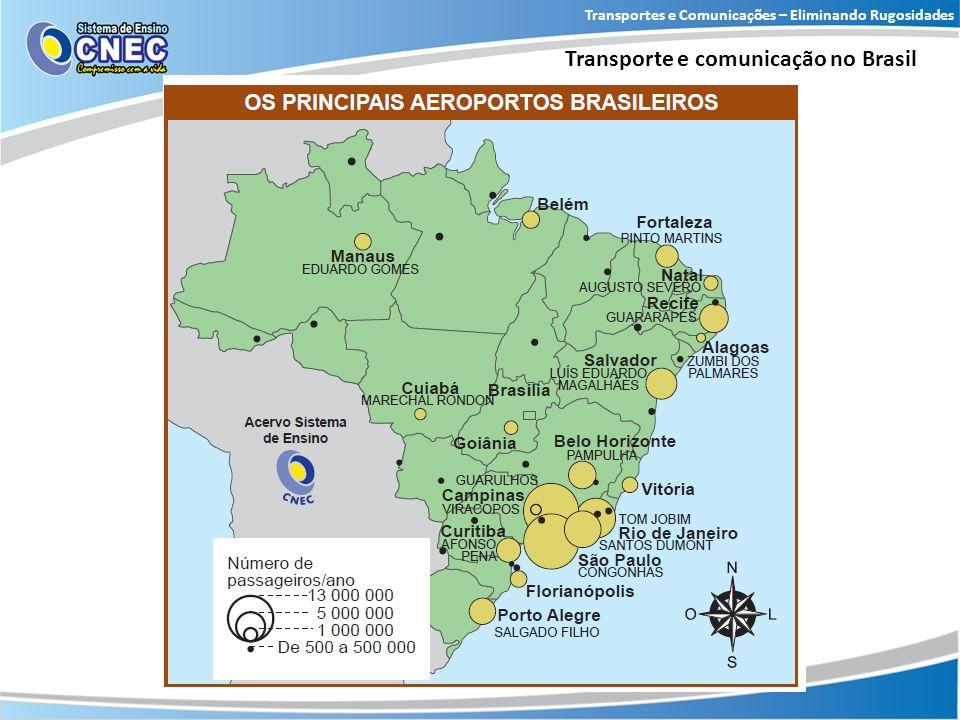 Transportes e Comunicações – Eliminando Rugosidades Transporte e comunicação no Brasil