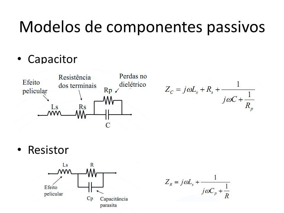 Modelos de componentes passivos Capacitor Resistor