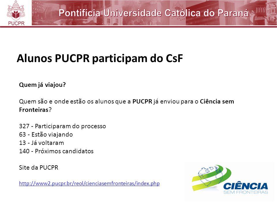 Alunos PUCPR participam do CsF Quem já viajou.