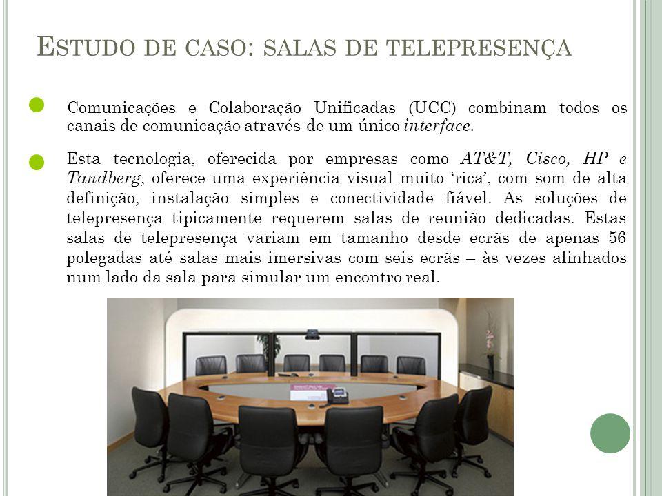 Comunicações e Colaboração Unificadas (UCC) combinam todos os canais de comunicação através de um único interface. Esta tecnologia, oferecida por empr