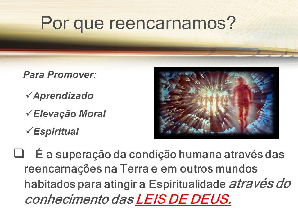 É a superação da condição humana através das reencarnações na Terra e em outros mundos habitados para atingir a Espiritualidade através do conhecimento das LEIS DE DEUS.