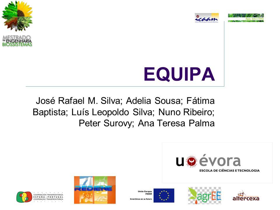 EQUIPA José Rafael M. Silva; Adelia Sousa; Fátima Baptista; Luís Leopoldo Silva; Nuno Ribeiro; Peter Surovy; Ana Teresa Palma