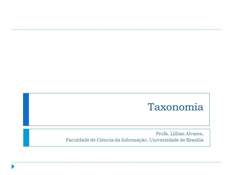 Taxonomia Profa. Lillian Alvares, Faculdade de Ciência da Informação. Universidade de Brasília