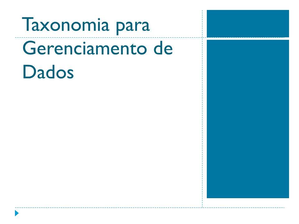 Taxonomia para Gerenciamento de Dados