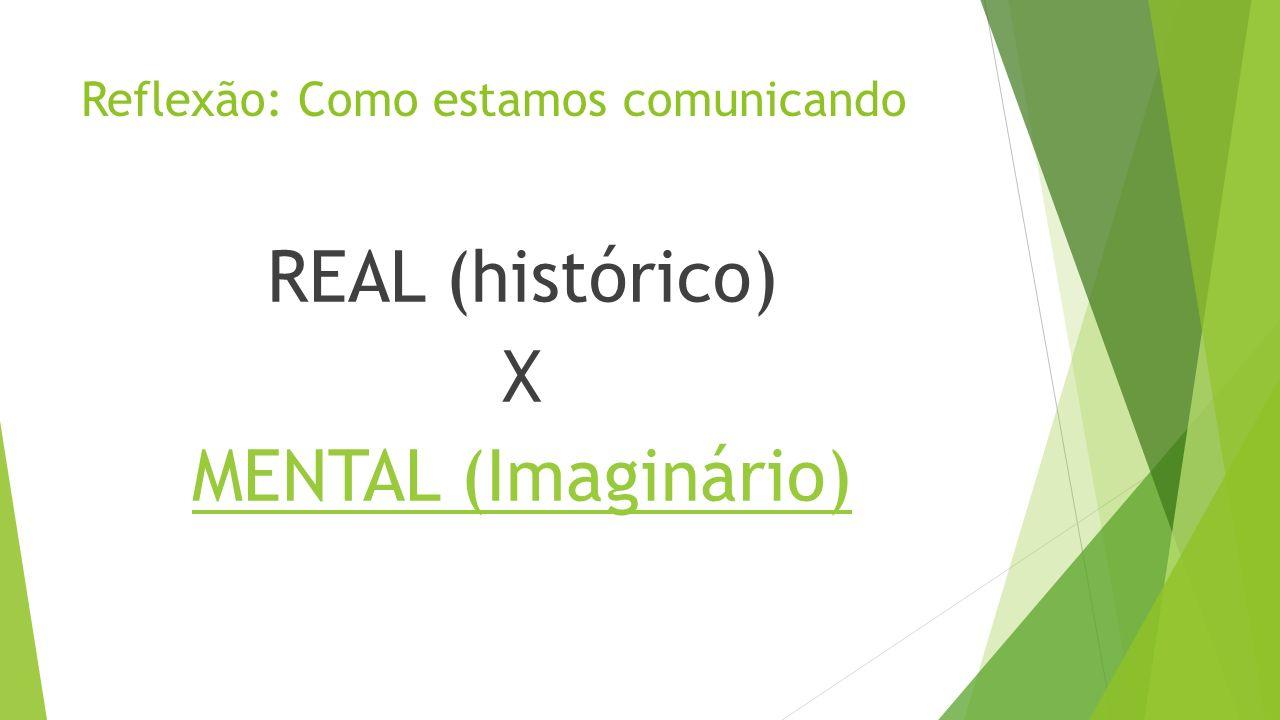 Reflexão: Como estamos comunicando REAL (histórico) X MENTAL (Imaginário)