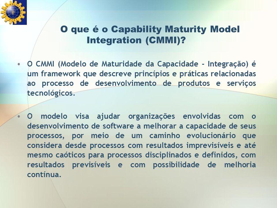 O que é o Capability Maturity Model Integration (CMMI)? O CMMI (Modelo de Maturidade da Capacidade - Integração) é um framework que descreve princípio