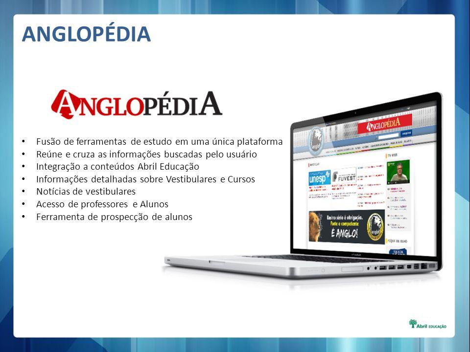 Fusão de ferramentas de estudo em uma única plataforma Reúne e cruza as informações buscadas pelo usuário Integração a conteúdos Abril Educação Inform
