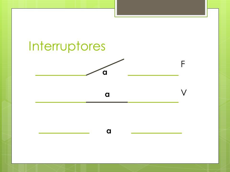 Interruptores a a F V a