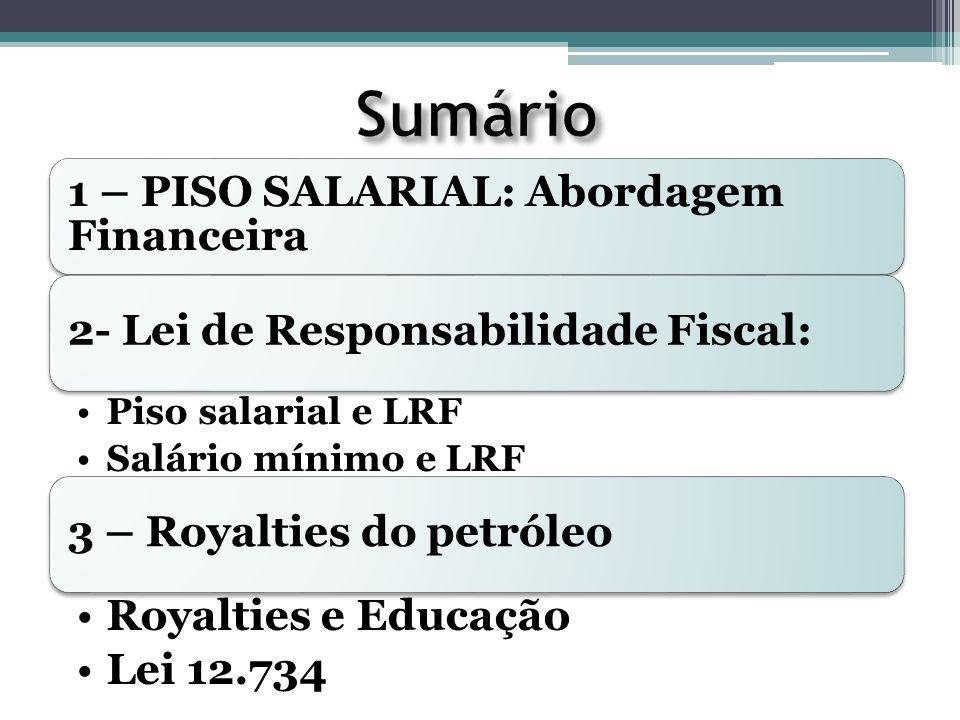 PISO SALARIAL: LRF Despesa do Magistério como proporção da Receita Corrente Líquida