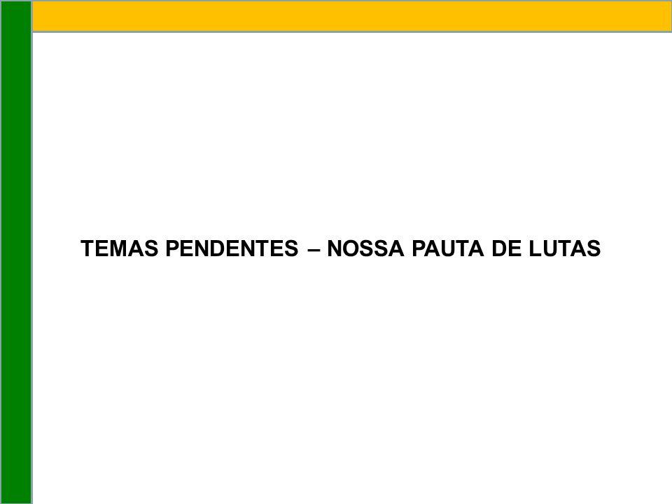 TEMAS PENDENTES – NOSSA PAUTA DE LUTAS