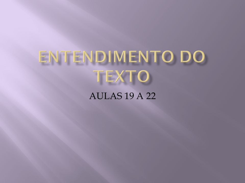 AULAS 19 A 22