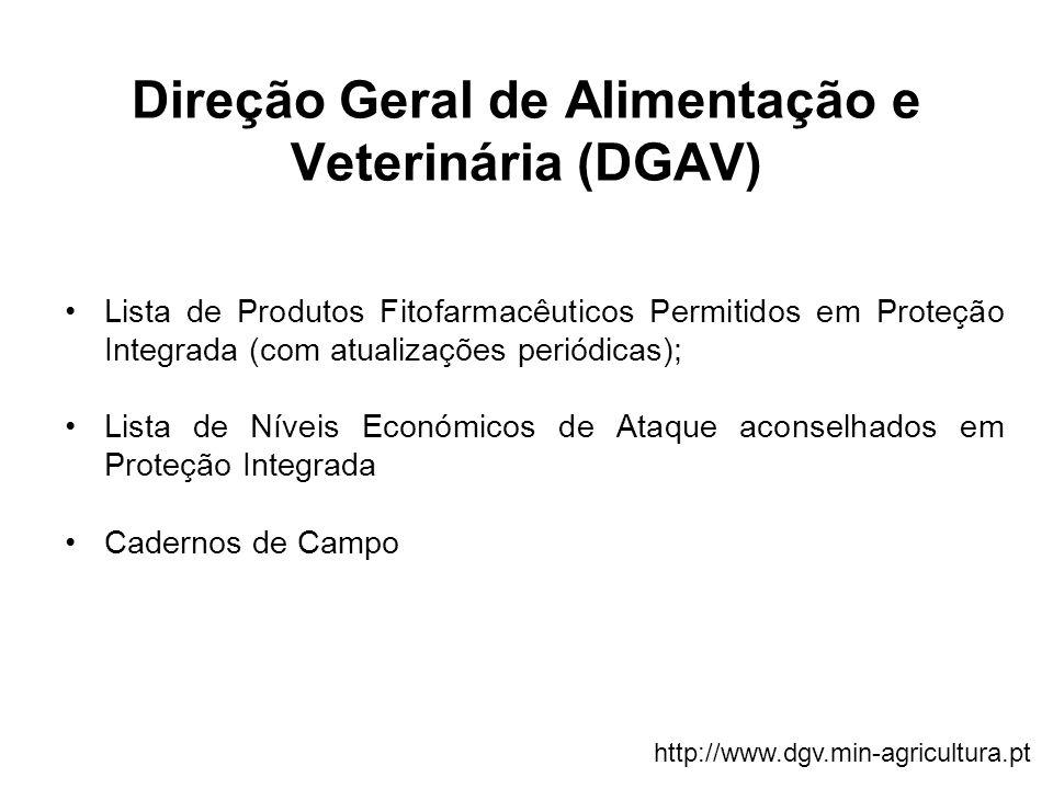 Direção Geral de Alimentação e Veterinária (DGAV) Lista de Produtos Fitofarmacêuticos Permitidos em Proteção Integrada (com atualizações periódicas);