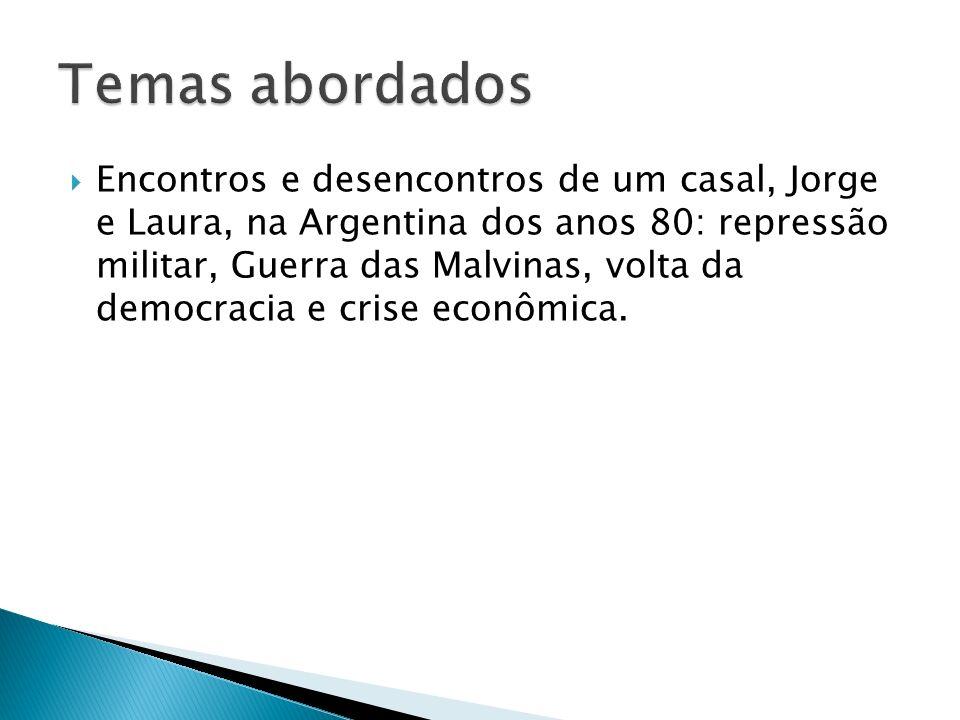 Encontros e desencontros de um casal, Jorge e Laura, na Argentina dos anos 80: repressão militar, Guerra das Malvinas, volta da democracia e crise econômica.
