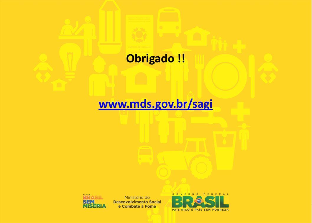 Obrigado !! www.mds.gov.br/sagi