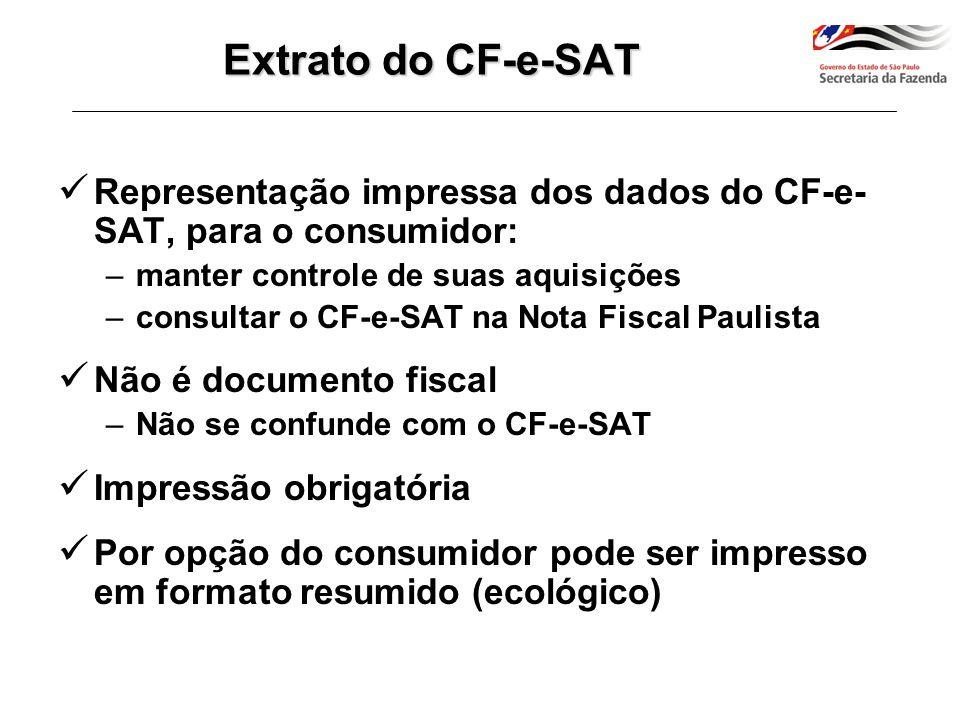 completo resumido Extrato do CF-e-SAT