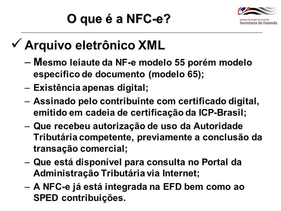 Sefaz NFC-e – Modelo Operacional