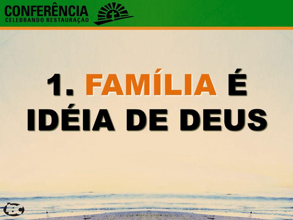 1. FAMÍLIA É IDÉIA DE DEUS