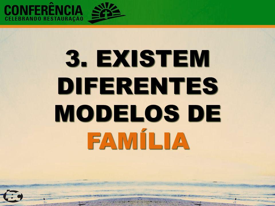 3. EXISTEM DIFERENTES MODELOS DE FAMÍLIA