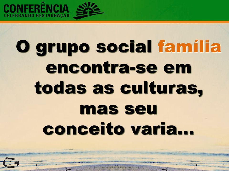 O grupo social família encontra-se em todas as culturas, mas seu conceito varia...