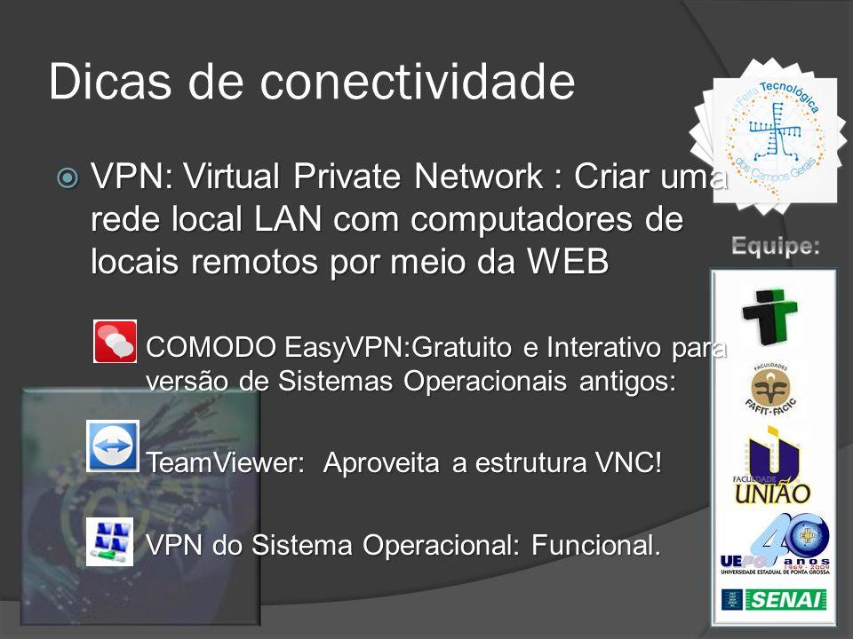 Dicas de conectividade VPN: Virtual Private Network : Criar uma rede local LAN com computadores de locais remotos por meio da WEB VPN: Virtual Private