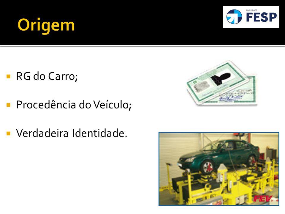 RG do Carro; Procedência do Veículo; Verdadeira Identidade.