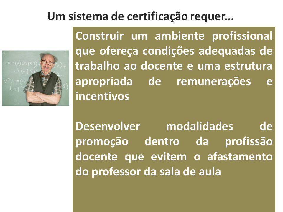 Um sistema de certificação requer...