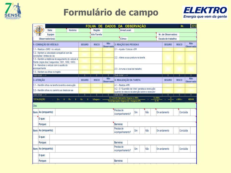 Formulário de campo