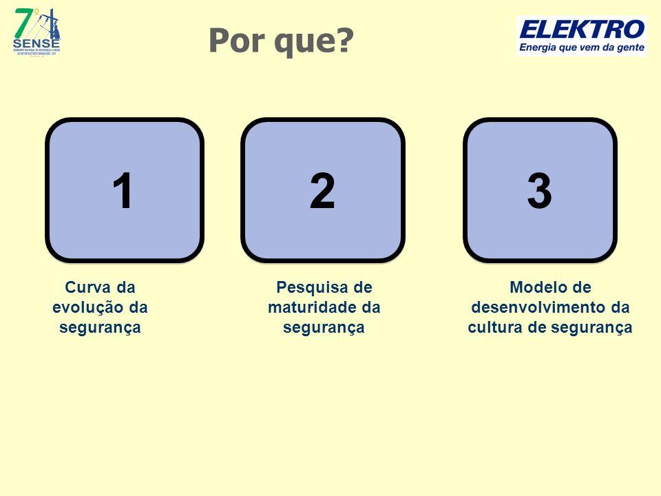 1 1 Curva da evolução da segurança 2 2 Pesquisa de maturidade da segurança 3 3 Modelo de desenvolvimento da cultura de segurança Por que?