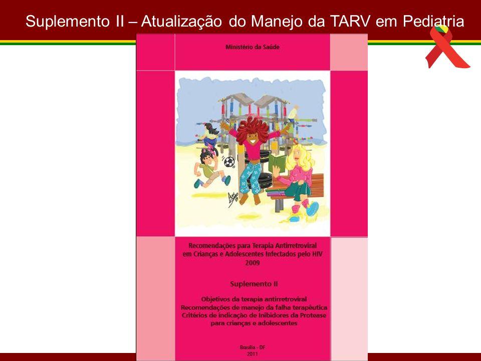Suplemento II – Atualização do Manejo da TARV em Pediatria