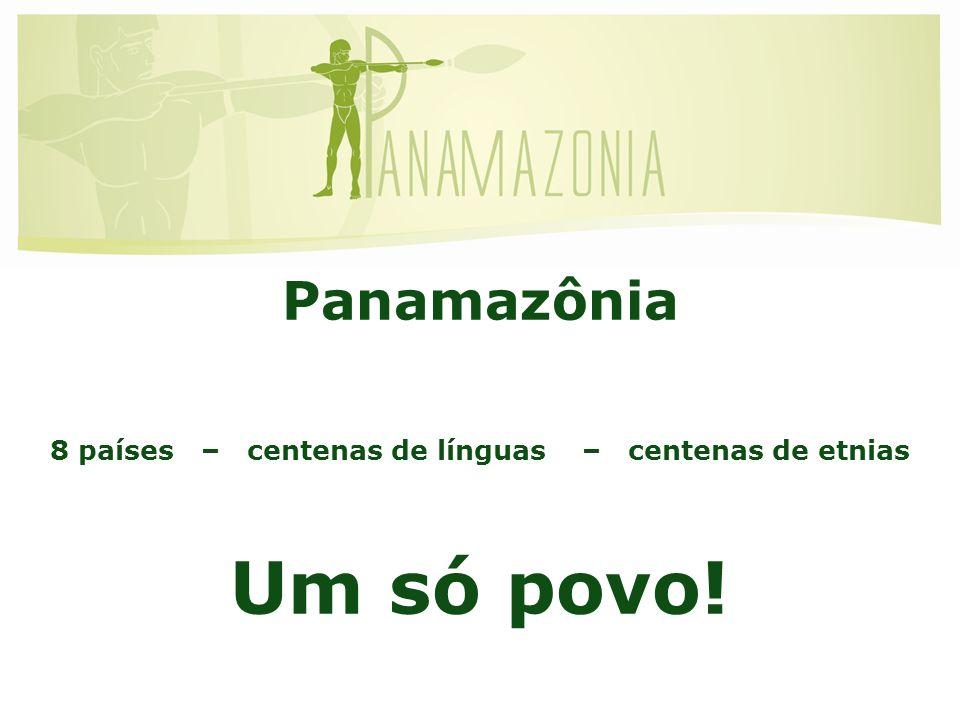 Panamazônia 8 países – centenas de línguas – centenas de etnias Um só povo! Amazônia Continental
