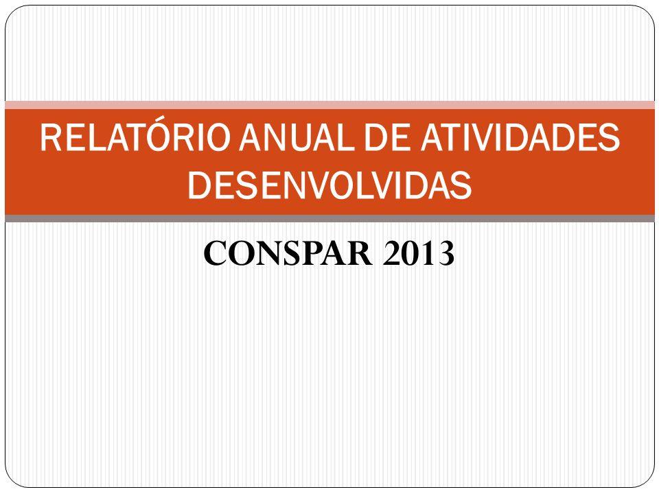 CONSPAR 2013 RELATÓRIO ANUAL DE ATIVIDADES DESENVOLVIDAS