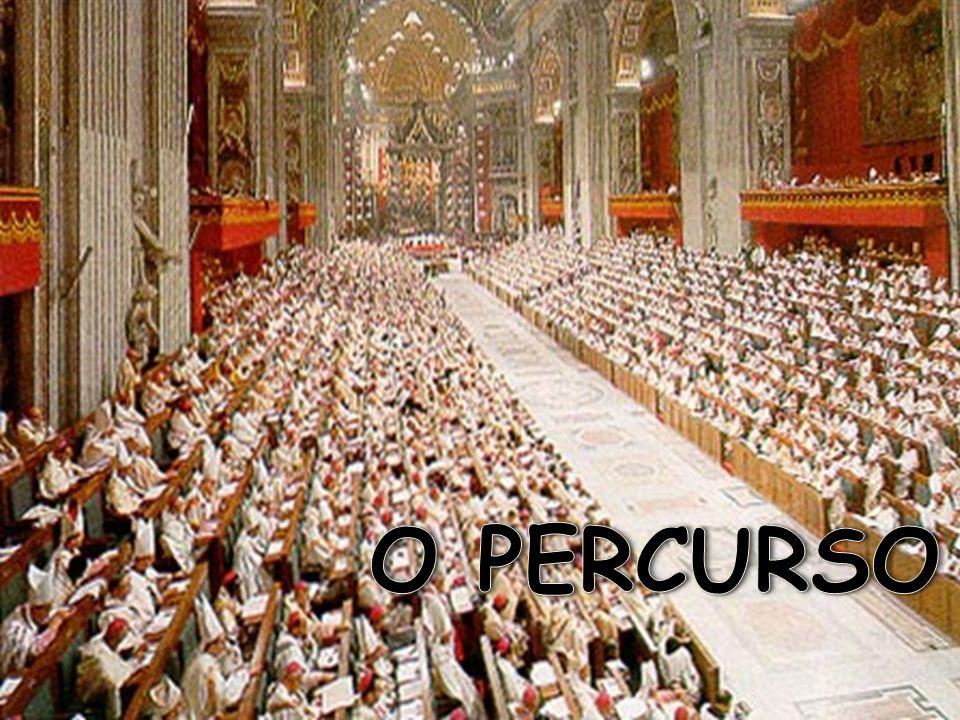 dezembro de1961 João XXIII anuncia a realização do Concílio outubro de 1962 aberta a primeira sessão dezembro de 1963 Paulo VI promulga a Sacrosanctum Concilium 2.147 votos a favor 19 votos contra