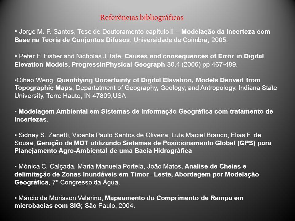 Referências bibliográficas Jorge M. F. Santos, Tese de Doutoramento capítulo II – Modelação da Incerteza com Base na Teoria de Conjuntos Difusos, Univ