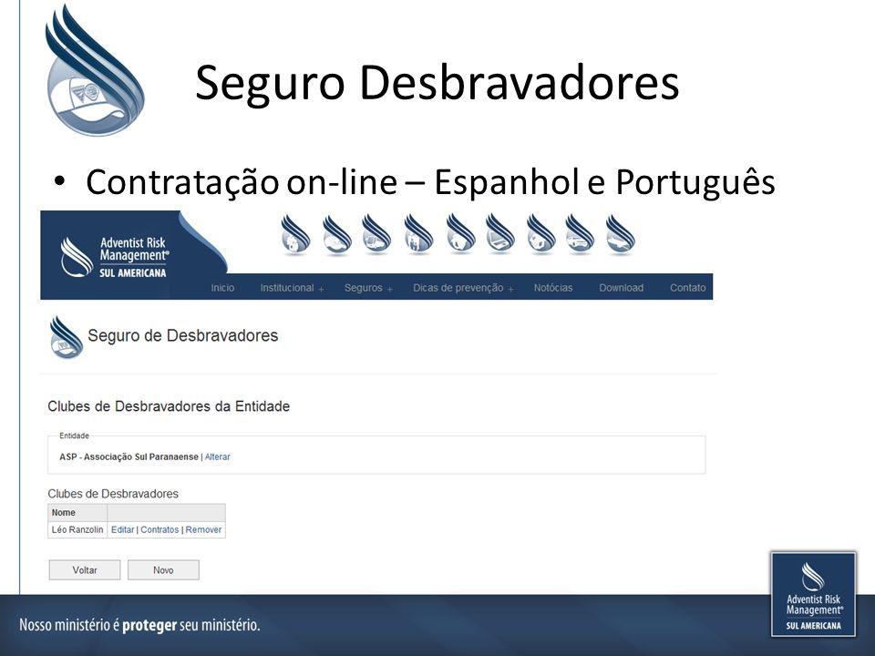Seguro Desbravadores Contratação on-line – Espanhol e Português