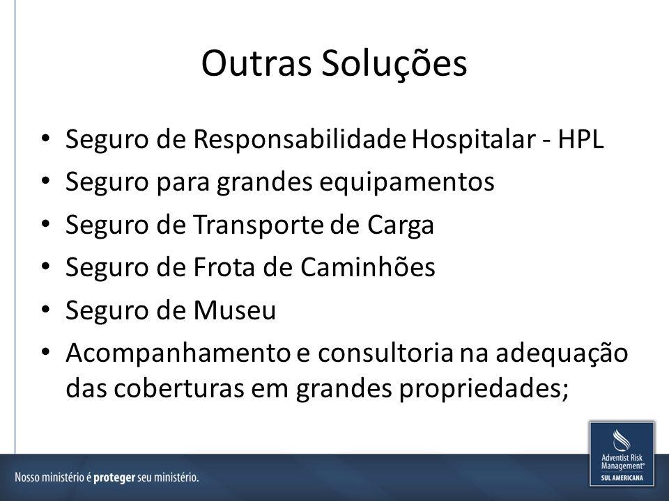 Outras Soluções Seguro de Responsabilidade Hospitalar - HPL Seguro para grandes equipamentos Seguro de Transporte de Carga Seguro de Frota de Caminhõe