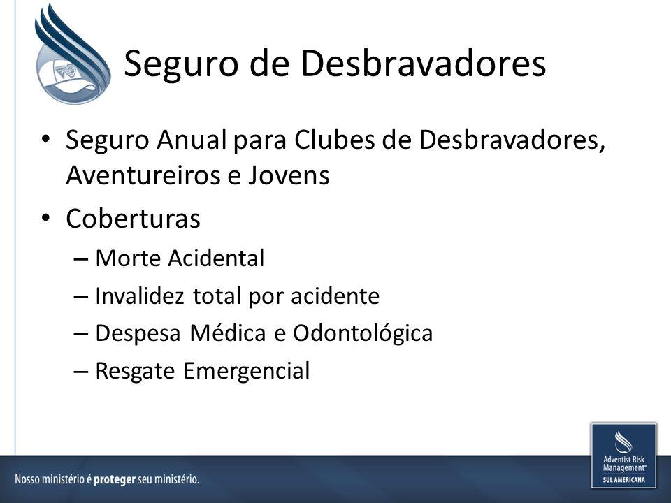 Seguros de Acampantes Seguro Campers (Acampantes) – Utilizado para viagens nos países hispanos – Coberturas Morte Acidental Desmembramento Despesa Médica e Odontológica Resgate Emergencial