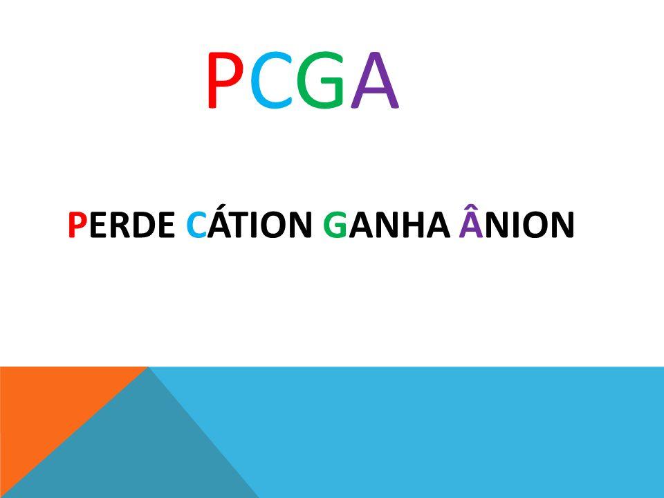 PCGA PERDE CÁTION GANHA ÂNION