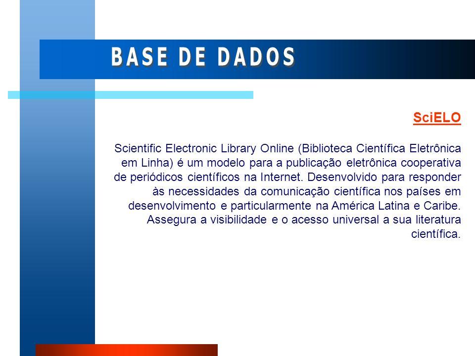 SciELO Scientific Electronic Library Online (Biblioteca Científica Eletrônica em Linha) é um modelo para a publicação eletrônica cooperativa de periód