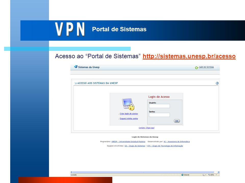 Acesso ao Portal de Sistemas http://sistemas.unesp.br/acessohttp://sistemas.unesp.br/acesso Portal de Sistemas
