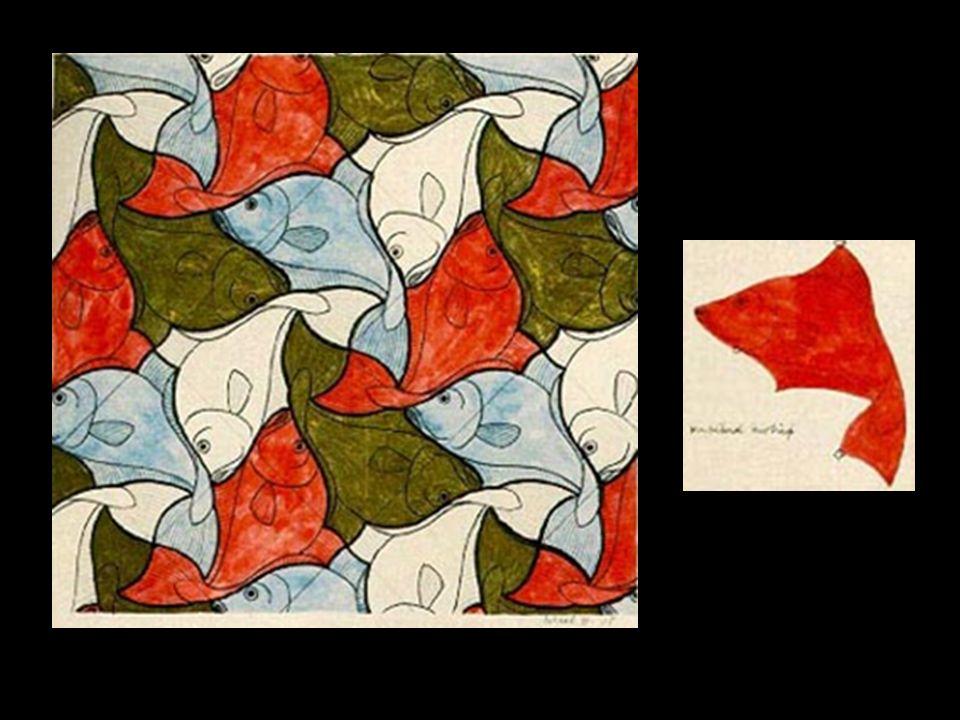 O maior e mais importante exemplo que temos dessas aplicações artísticas é o holandês M. C. Escher (1898-1972), que através da combinação de simetrias